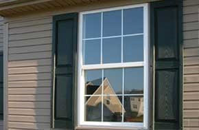 Double hung window from outside in Green Bay WI