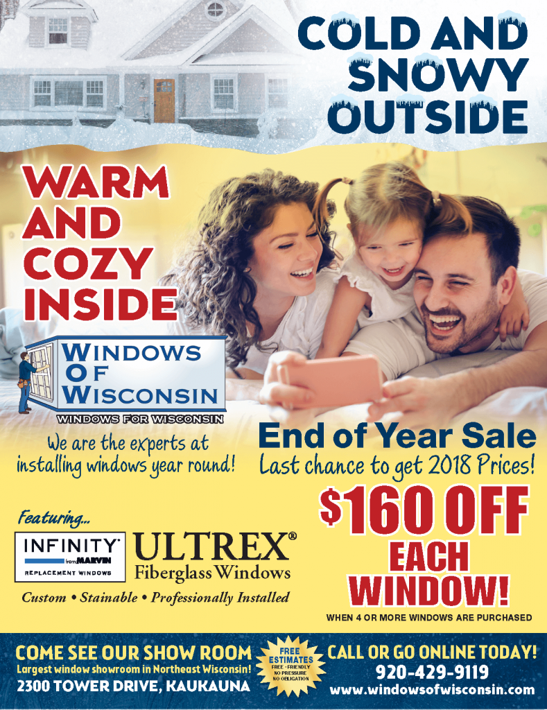 End of the year window sale. 160 dollars off each window until the end of 2018