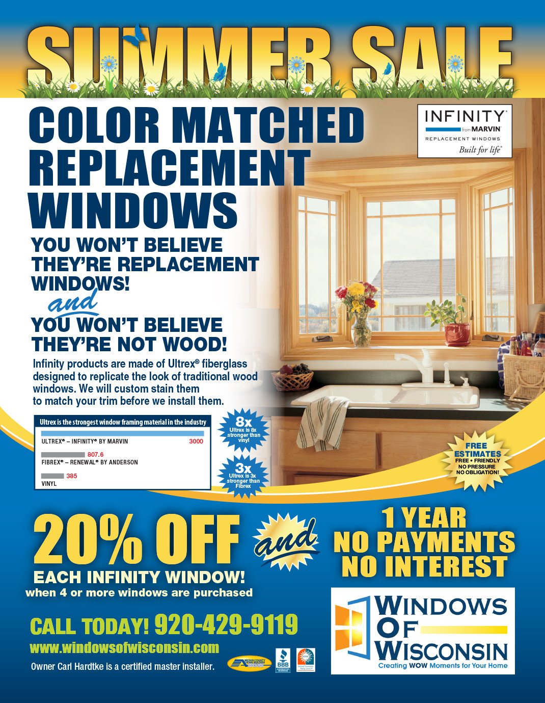 Summer Sale at Windows of Wisconsin Replacement Windows from Infinity by Marvin in Green Bay and Appleton